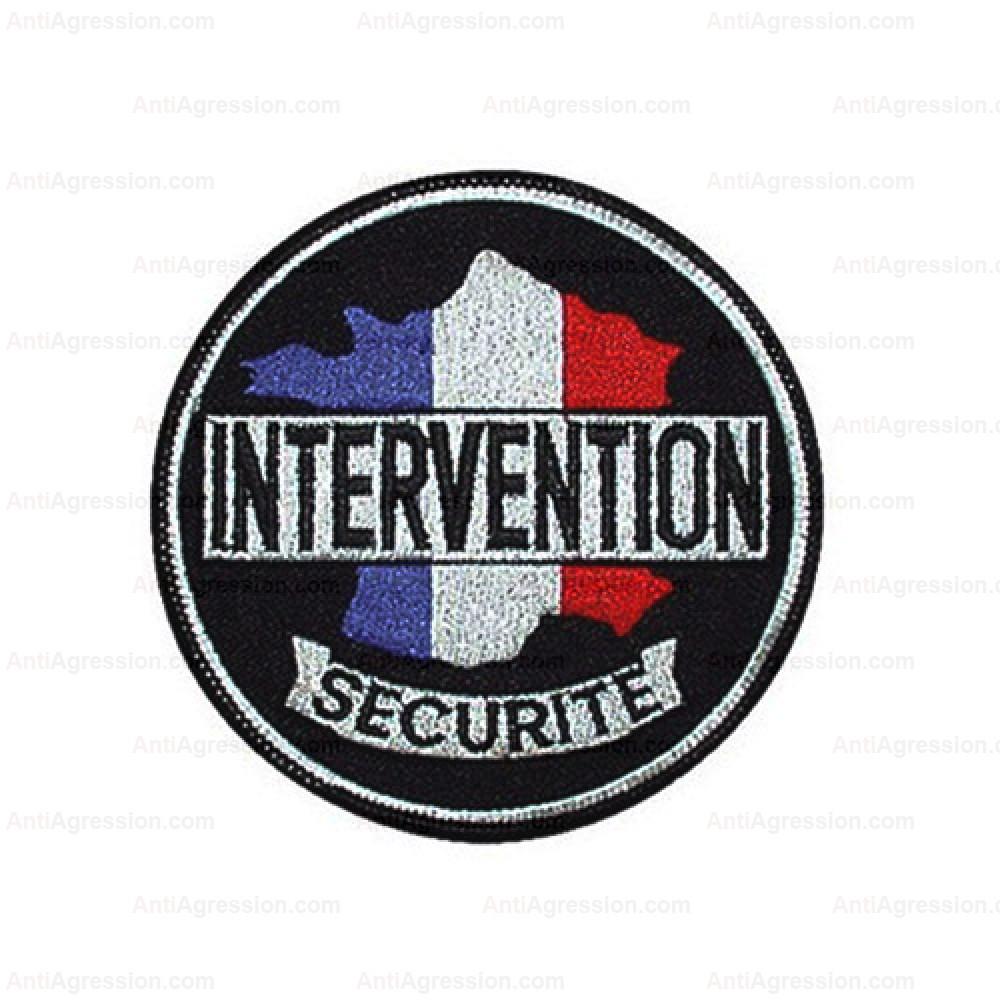 Ecusson rond brodé Intervention Sécurité