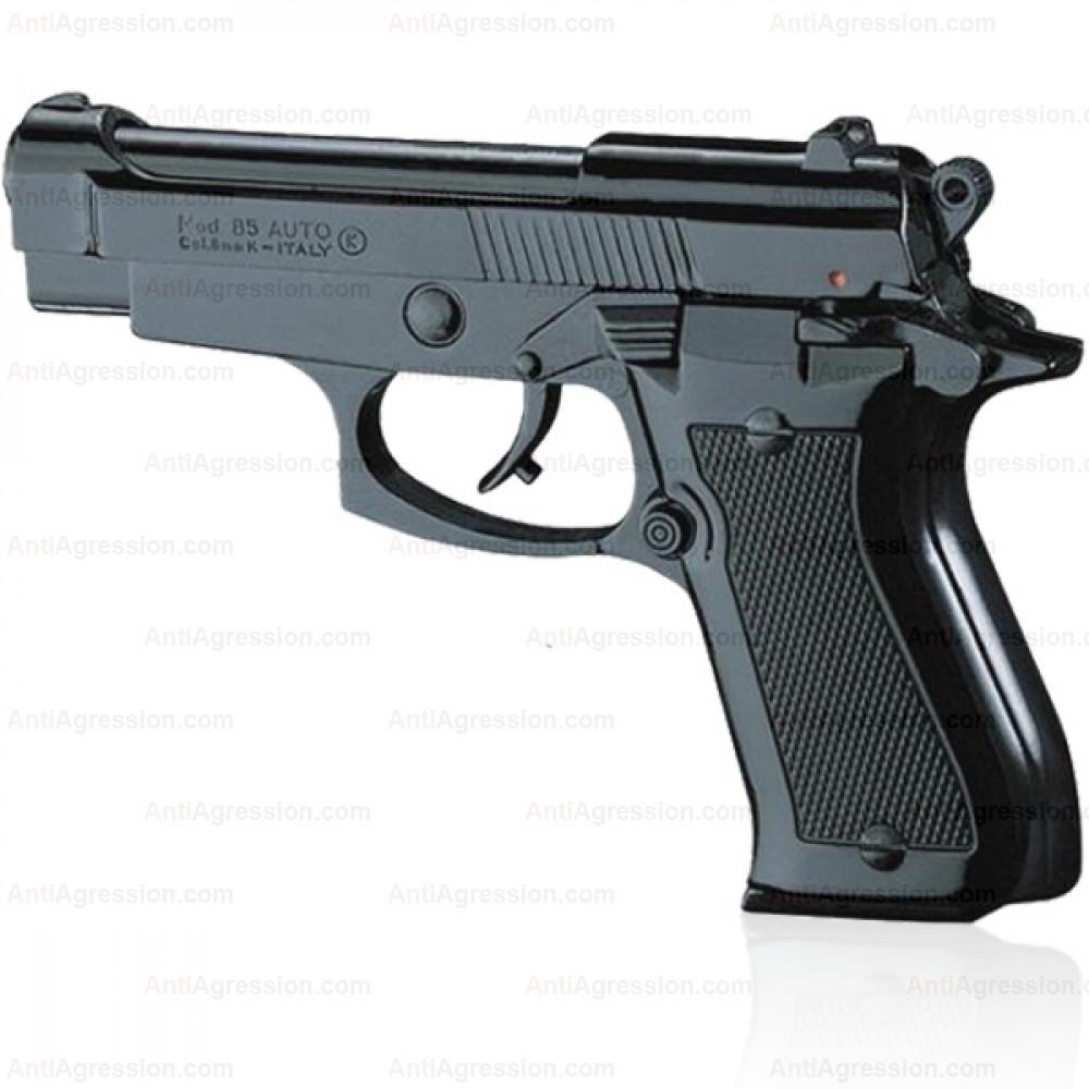 """Pistolet type """"Beretta 85"""" Noir cal. 9mm"""