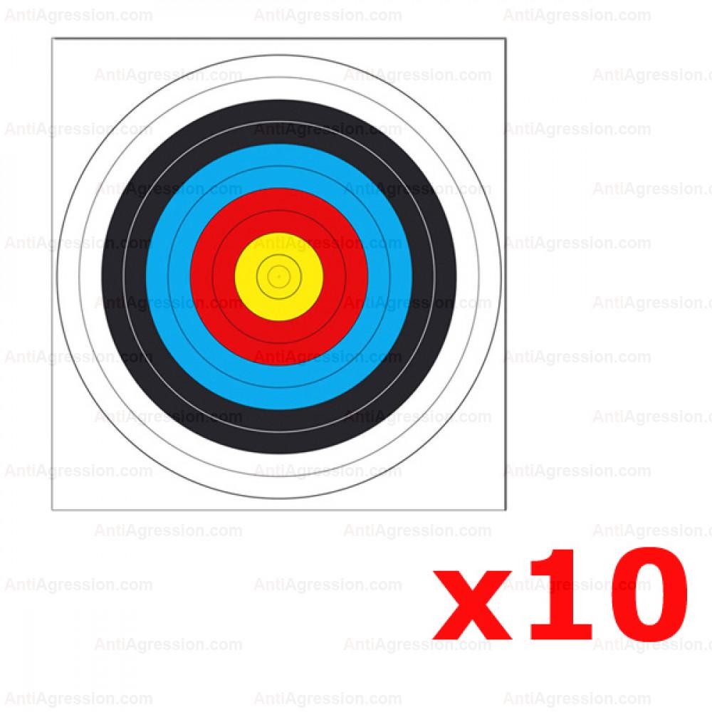 Lot de 10 cibles arbalete Field IR900 64x61 cm