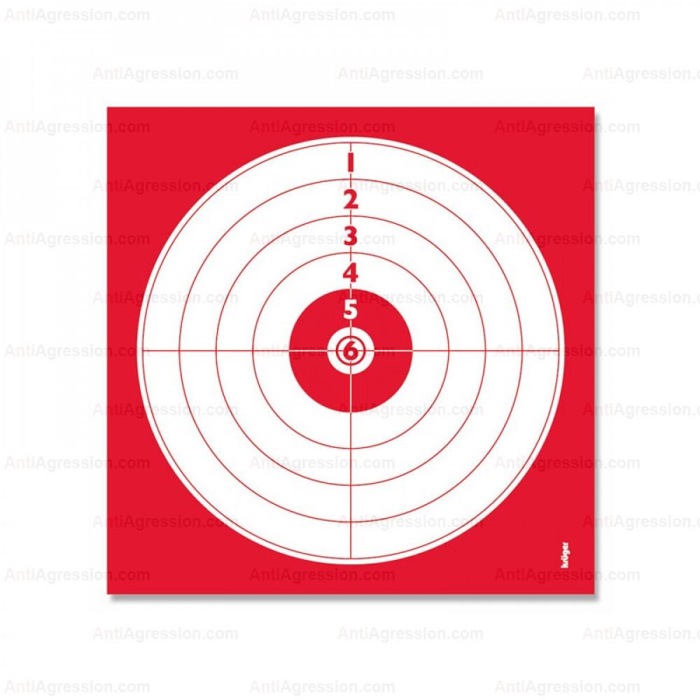 lot de 100 cibles 14x14 cm