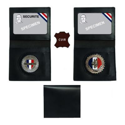 Porte carte 2 volets et médaille - Modèle maître-chien et sécurité