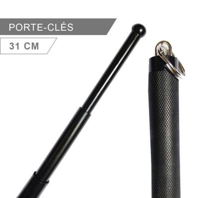 Matraque télescopique porte-clés 31cm noire