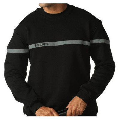 Sweat-shirt brodé sécurité bande grise