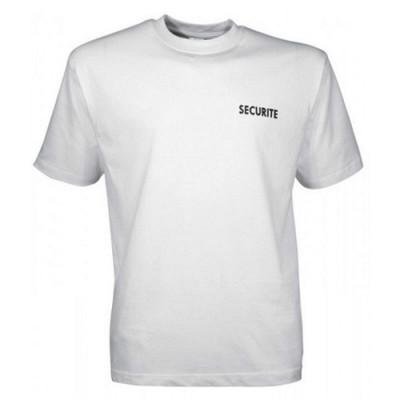 Tee-shirt blanc imprimé sécurité