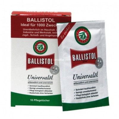 Boîte de 10 lingettes Ballistol