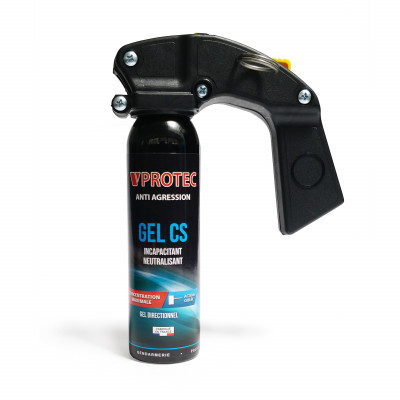 Bombe lacrymogène gel 100ml VPROTEC - poignée extincteur