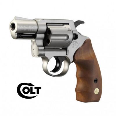 Colt Detective special - NICKELÉ/BOIS Cal. 9mm UMAREX