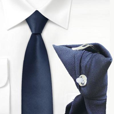 Cravate clip bleue