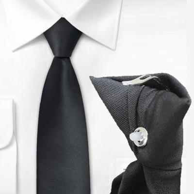 Cravate clip noire