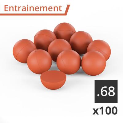 100 Balles caoutchouc pour entrainement UX UMAREX pour T4E cal.68