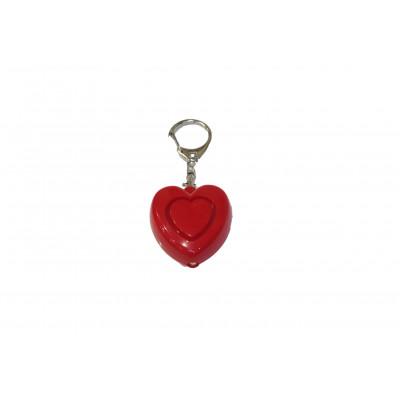 Alarme de poche coeur rouge + LED
