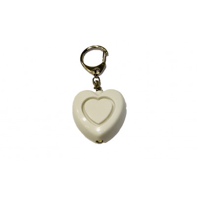Alarme de poche coeur blanc + LED