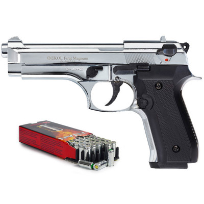 "Kit défense EKOL Firat Magnum Chromé type ""Beretta 92"" cal. 9 mm"