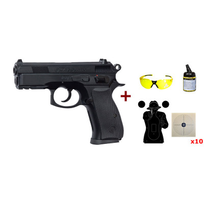 Pack pistolet CZ 75D Compact Asg cal. 6mm
