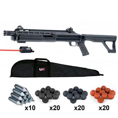 Fusil à Pompe HDX T4E 16 Joules Calibre 68 + Micro Laser