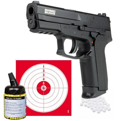Pack Pistolet à Billes SA Mile Pistol CO2 0.9j Cal.6mm