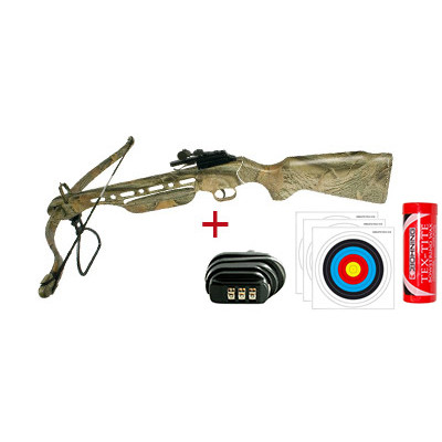 Pack arbalète Shoot Again Mle CF118 Camo 150 livres
