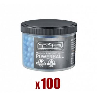 100 Balles Caoutchouc Bleues POWERBALL cal. 43