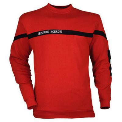 Sweat-shirt brodé sécurité incendie