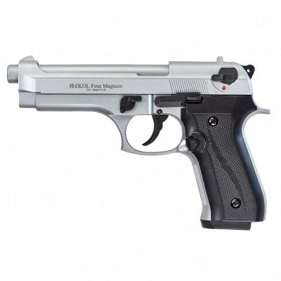 """Pistolet EKOL type """"Beretta F""""  métal brossé cal. 9mm"""